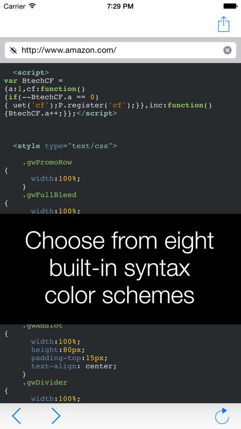 View Source – HTML, JavaScript and CSS App 截图