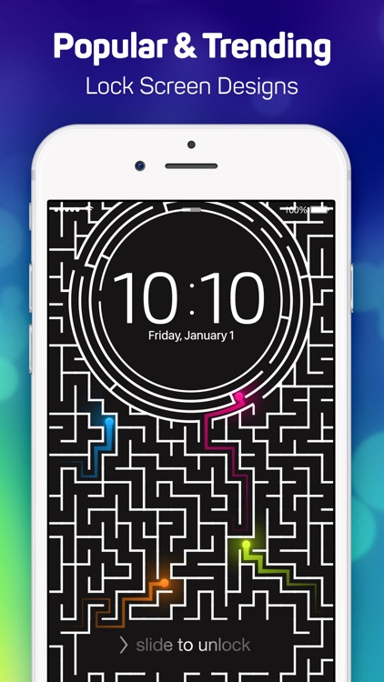 Lock Screen Designer Free - Lockscreen Themes and Live Wallpapers for iPhone. screenshot-4
