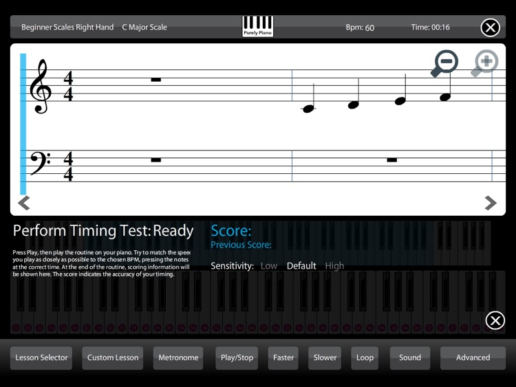 Piano - Learn lessons & practice scales chords rhythm training teach skills educational music sight reading metronome screenshot-3