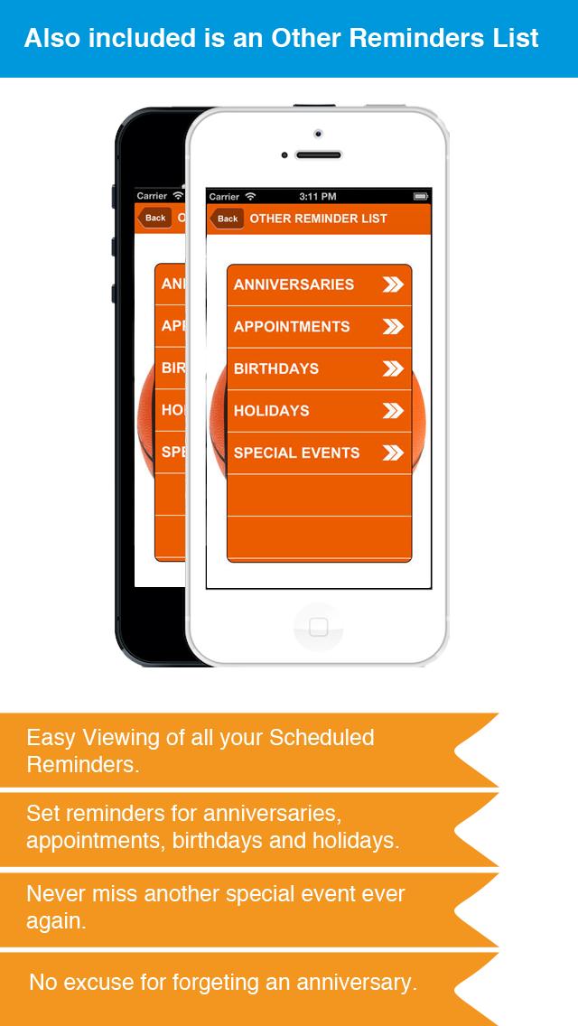 Basketball Reminder App - Stundenplan Ablaufplan Reminders-SportScreenshot von 5