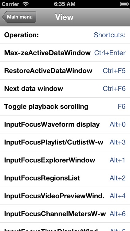 Shortcuts for Sony Acid Pro screenshot-3