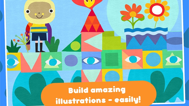 Paper Cut Studio – cutting and painting activity for children - create craft collage illustration and art screenshot-2