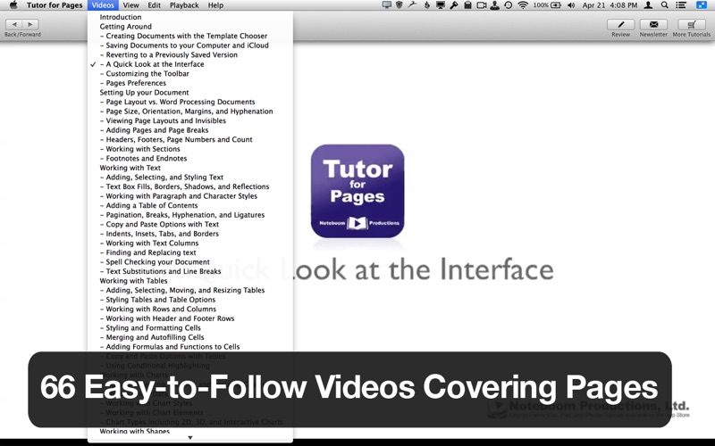 Tutor for Pages Screenshot