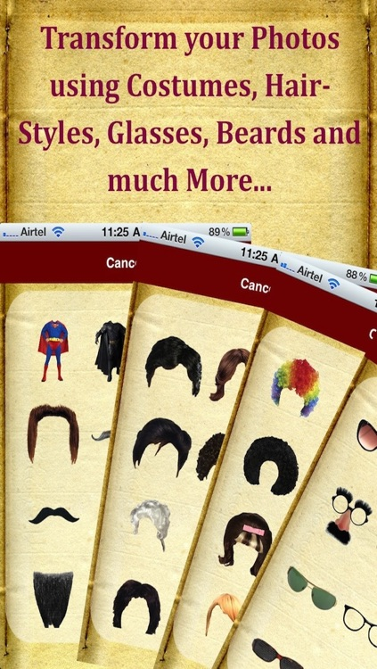 Photo Fun Booth : Add Beard Mustache Hair Styles Costume Hat and More
