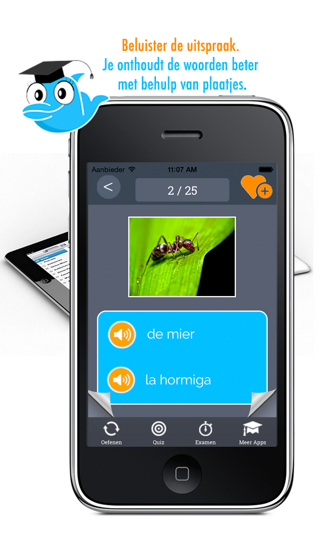 Learn Spanish and Dutch Vocabulary: Memorize Spanish Words - Free screenshot one