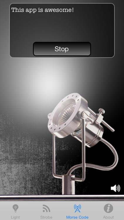 Flashlight+ for iPhone 5S/5c/4 with Strobe, Morse and Adaptive Brightness screenshot-4
