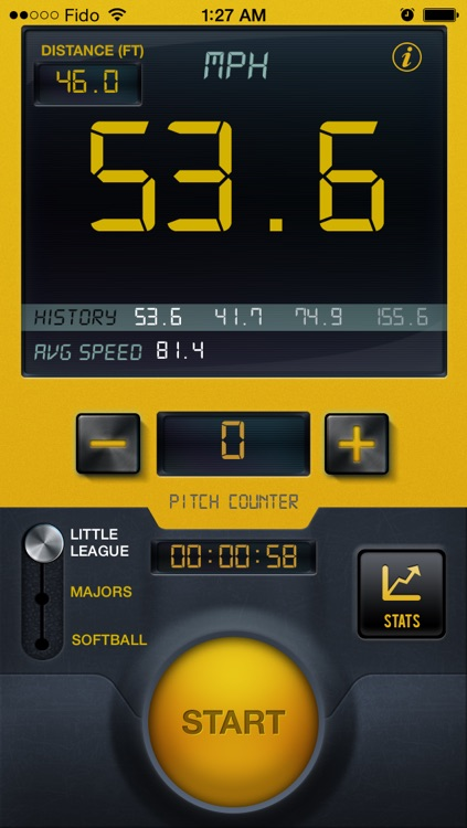 Baseball Speed Radar Gun Pro By CS Sports
