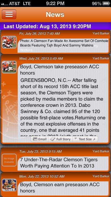 Clemson Football Live