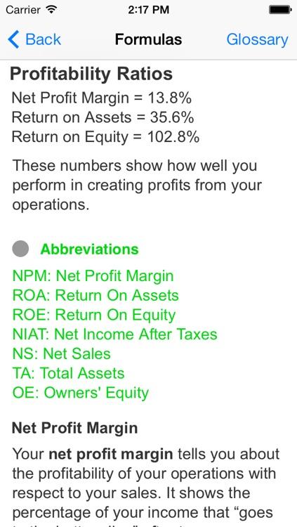 P.L.A.D.™ Financial Ratio Analysis screenshot-3