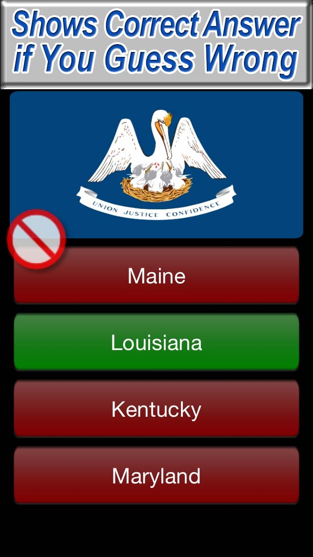 US State Flags Practice Quiz - The Free Educational United States Flag Trivia Game screenshot three
