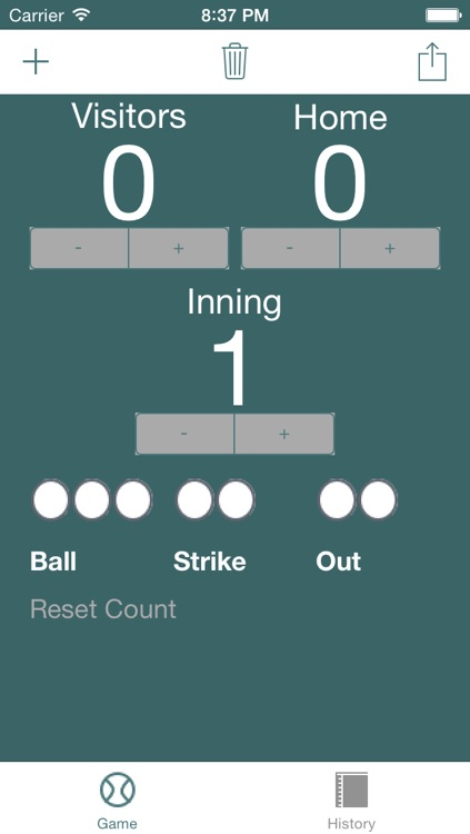 Simple Baseball Scoreboard