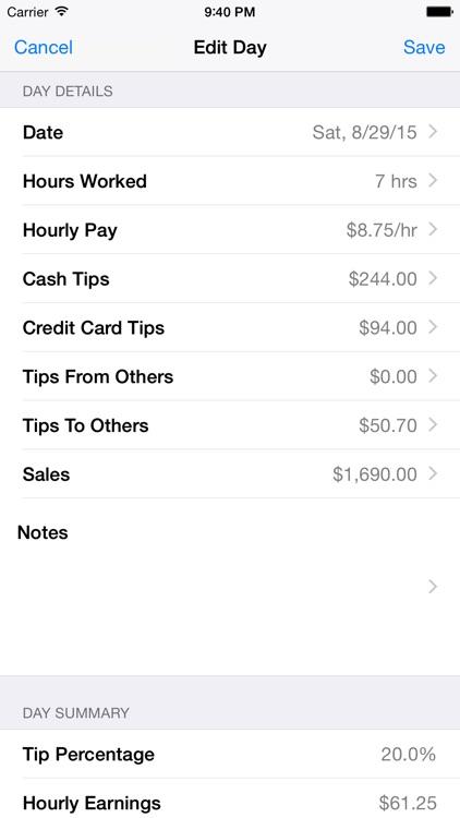 Tip Sheet screenshot-3
