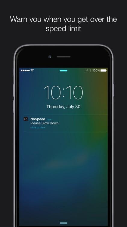 NoSpeed - Car Speed Alert System screenshot-0