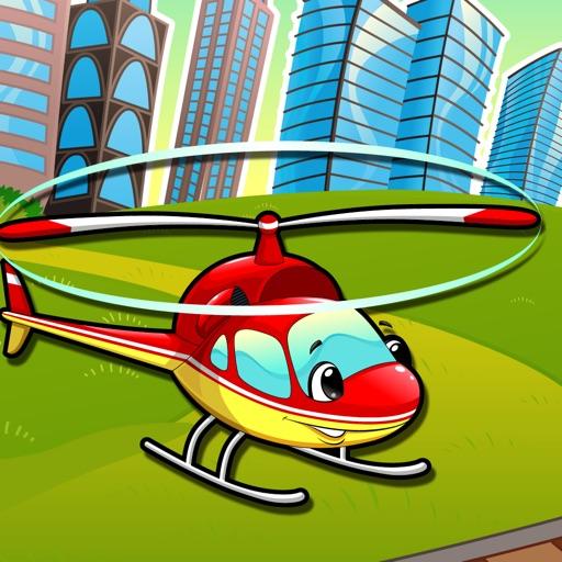 Auto-Lernspiel für Kindergarten, Vorschule und Schule: Spiele, Übungen, Puzzle und Lernen für Kinder von 2-5 und die Fahrzeuge der Stadt wie Autos, Zug, Flugzeug, Helikopter, Strassen und mehr kostenlos.