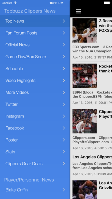 News Surge for Clippers Basketball News Free screenshot one