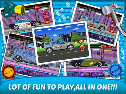 Little Car Wash –washing up free kids Games-ipad-1
