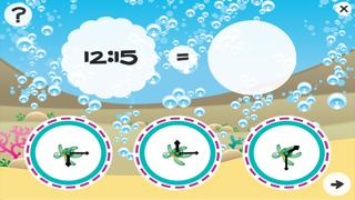 それは何時ですか?子どもたちは海の動物と時計の読み方を学ぶためのゲーム。ゲームや幼稚園、幼稚園や保育園のための演習のおすすめ画像3