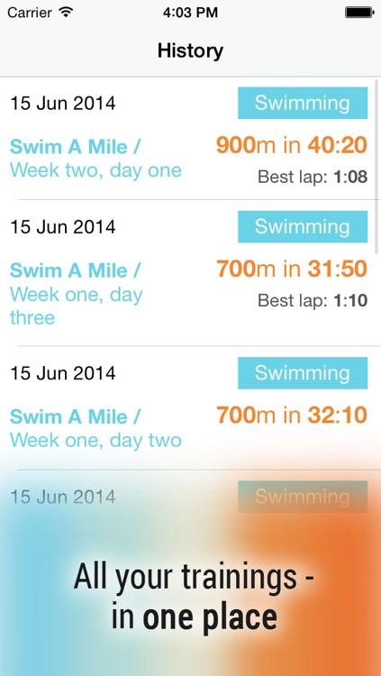 Swim! Bike! Run! : workout plans for swimming, cycling and running screenshot-4