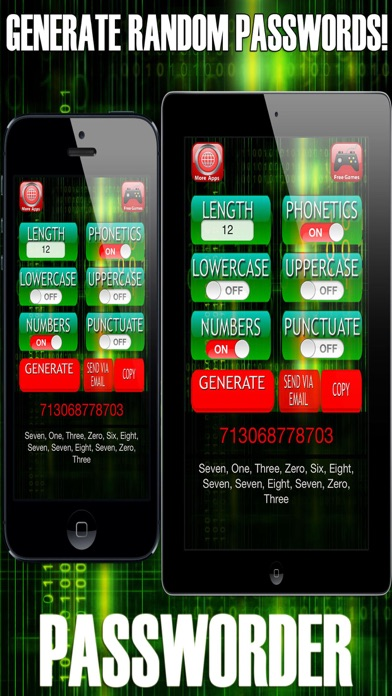 Passworder - Random Password & Keycode Generator screenshot one