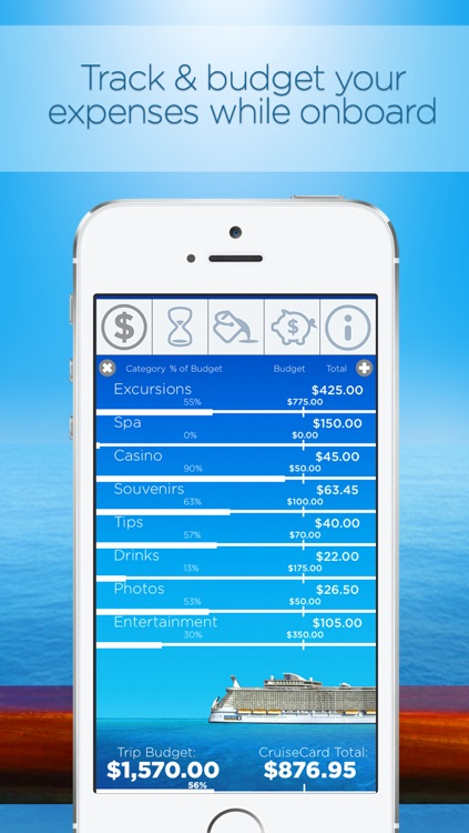 Cruise Card Control: Track and budget your onboard cruise line expenses