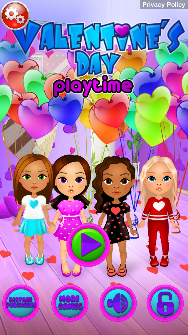 Valentines Day Playtime - Dress Up, Decorate Cookies, Teddy Bear Builder, Decorate Cupcakes, Decorate Cards screenshot one