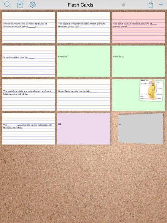Index Card Board for iPad - Organize cards & brainstorm on a corkboard screenshot-3