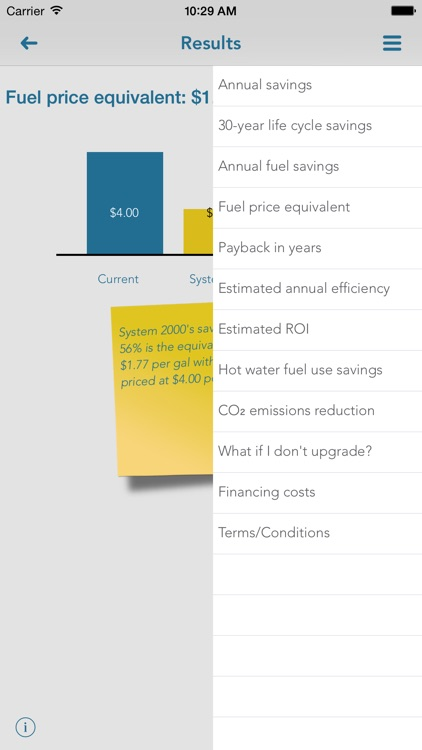 SmartHeat, quick and easy energy savings estimates
