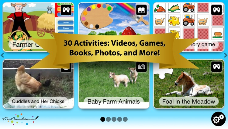 Farm Animals Digital Activity Pack: Games, Videos, Books, Photos & Interactive Play & Learn Activities for Kids from Mr. Nussbaum screenshot-0