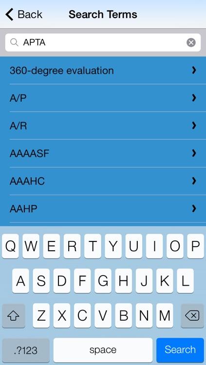 AHIMA HIM Glossary screenshot-3