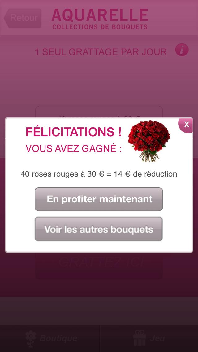 Livraison de fleurs Aquarelle screenshot four