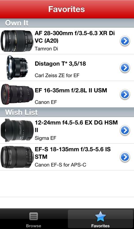 Canon Lens Buddy - Lenses for DSLR Cameras screenshot-4