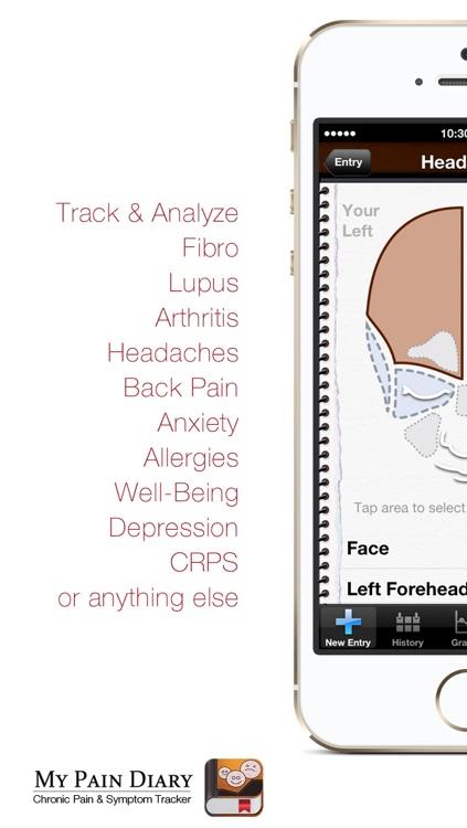 My Pain Diary: Chronic Pain & Symptom Tracker