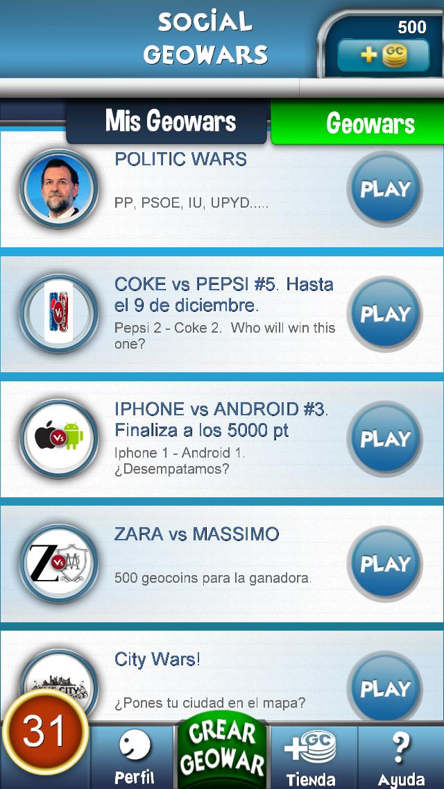 Social Geowars. Play.Win.Create screenshot two