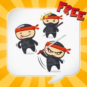 NinjaEmoji Free: Send Ninja Themed Emoticons for Text + Messages app