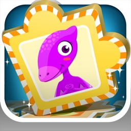 Dinosaur Games Learning - Silly Sentences card & puzzle games for kids and preschool toddler