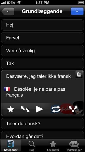 fransk parlør app
