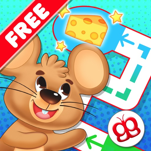 Toddler Maze 123 Pocket Free - Fun learning with Children animated puzzle game