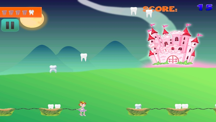 Enchanted Baby Tooth Fairy Story FREE - Collect and Catch the Tooth Falling Down Game screenshot-4