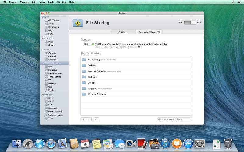 OS X Server 3.2.2 скриншот программы 3