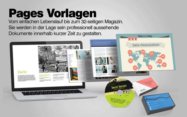 Vorlagen-Center für iWork: Pages Numbers Keynote Templates im Mac ...