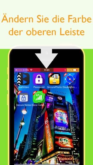 obere leiste bunt gestalten hintergrundbilder in ios 7 anpassen und ndern im app store. Black Bedroom Furniture Sets. Home Design Ideas
