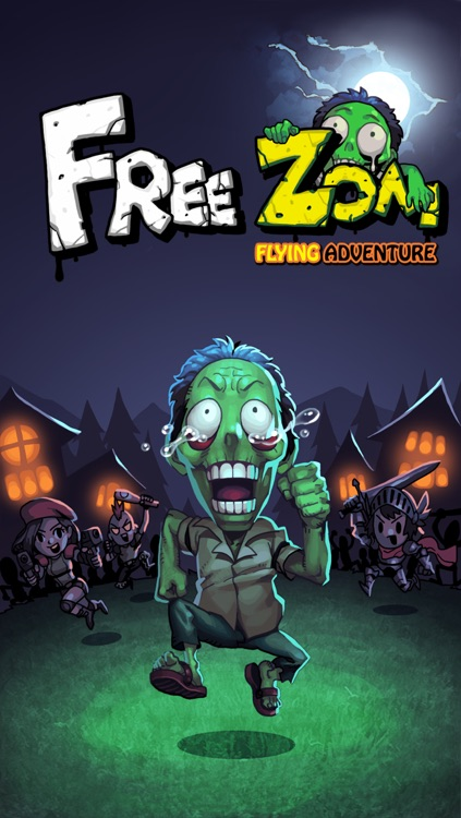 FreeZom - Flying Adventure of Zombie screenshot-4
