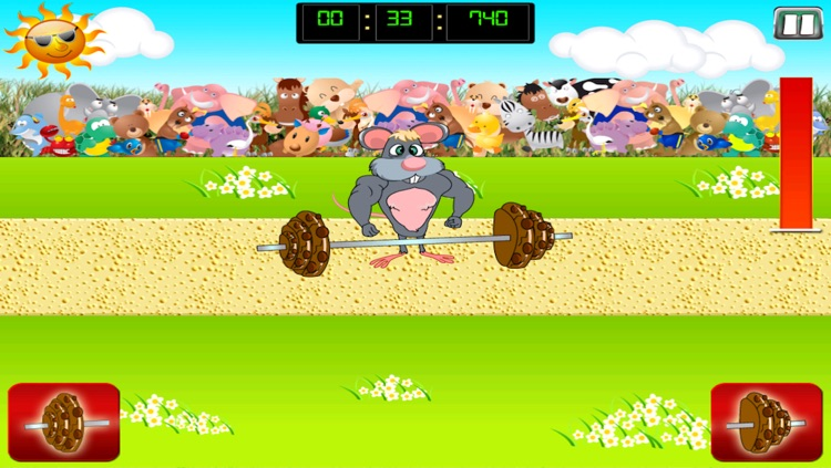 Mouse Body Building Chocolate Cookie Lift Free screenshot-4
