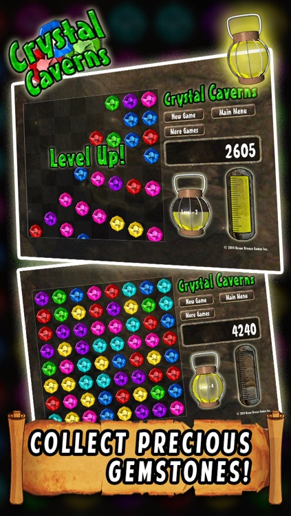 Crystal Caverns - Drag and Match 3 Jewels Game screenshot-3
