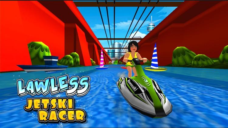 Lawless Jetski Racer (3d Stunt Race Games) screenshot-3