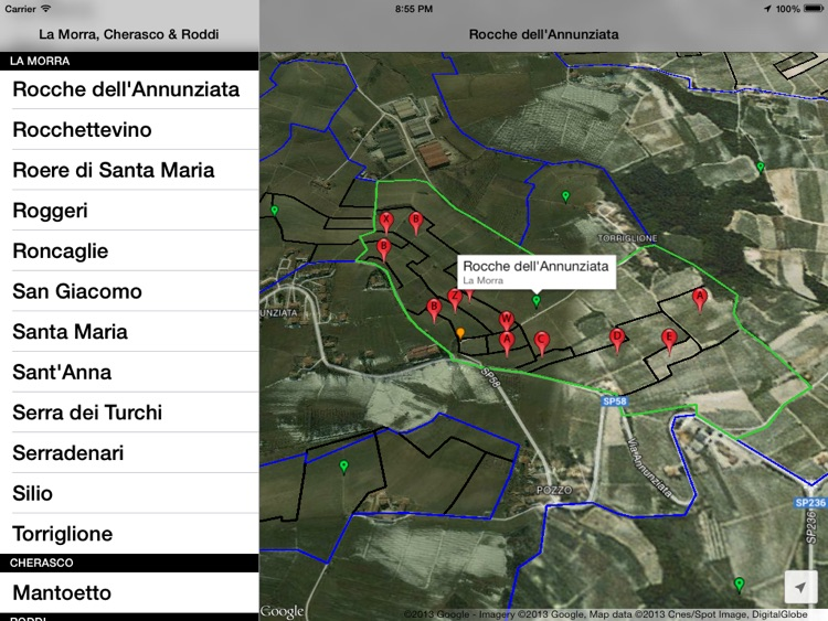 La Morra, Cherasco, Roddi & Verduno Wine Map screenshot-1