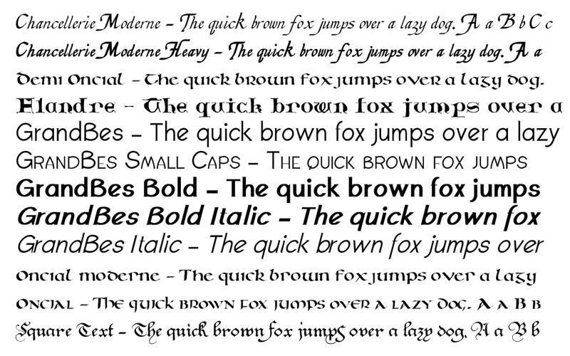 Calligraphic Fonts Screenshots