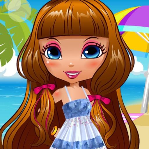Cute Model Fashion Beach Party