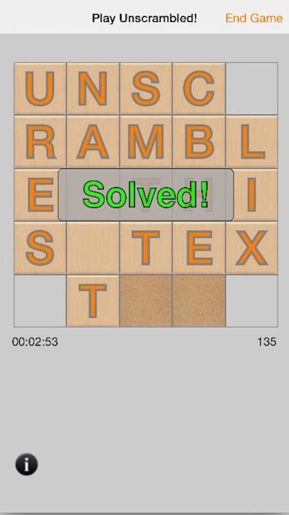 Unscrambled! Free screenshot-3