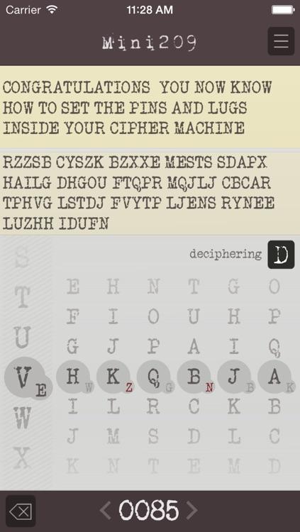 Mini209: M-209 cipher machine simulator